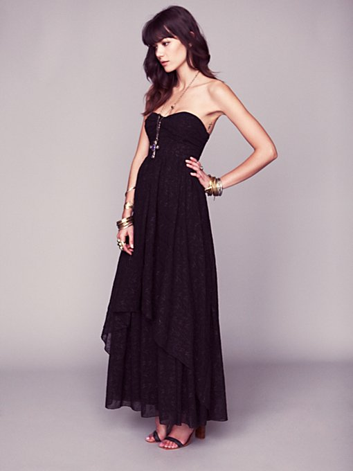 Free People Eyelet Indian Enchantment in Chiffon-Dresses