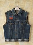 Vintage Embellished Denim Vest