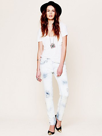 Free People 5 Pocket Washed Ankle Crop