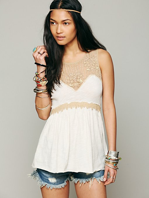 Free People Window Into My Heart Tank in Party-Tops