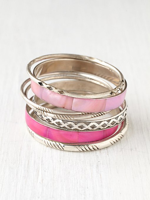 Shell Hard Bangle Set in jewelry