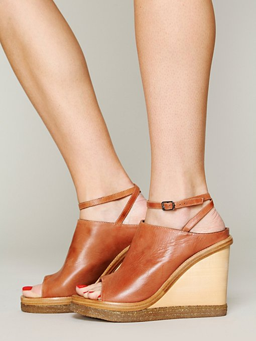 Free People Catalina Mule Wedge in ankle-strap-heels