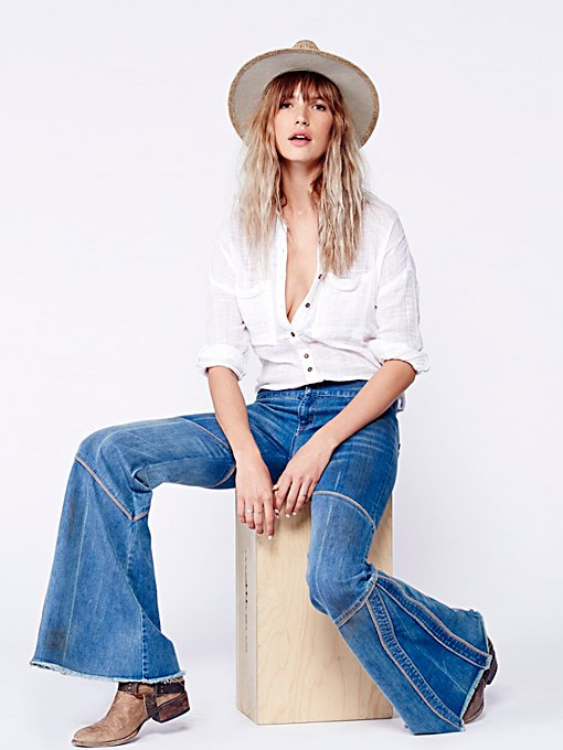 Free People Seamed Bambi Flare in flare-jeans