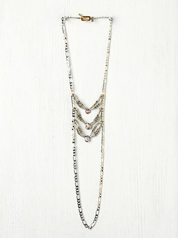 Vanessa Mooney Abalone Layered Tier Necklace