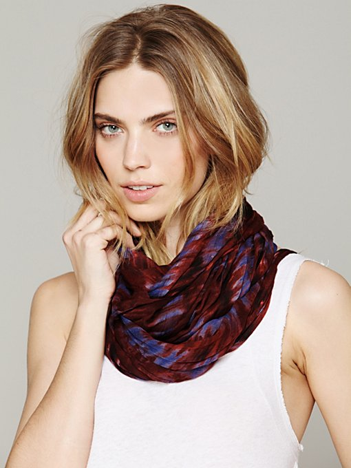 Asymmetrical Ikat Scarf in scarves