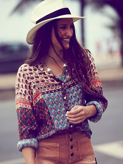 Free People FP ONE Samba Mix Shirt in knit-sweaters
