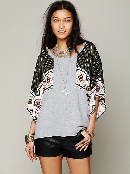 Free People Festival Sleeved Pullover in Sweaters