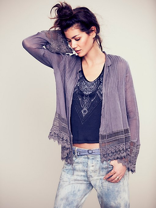 Free People FP ONE Softly Woven Jacket in Coats