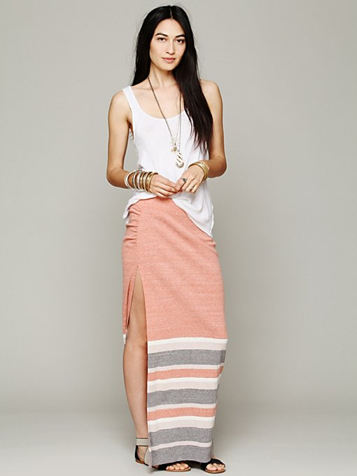 High to the Thigh Skirt in maxi-midi