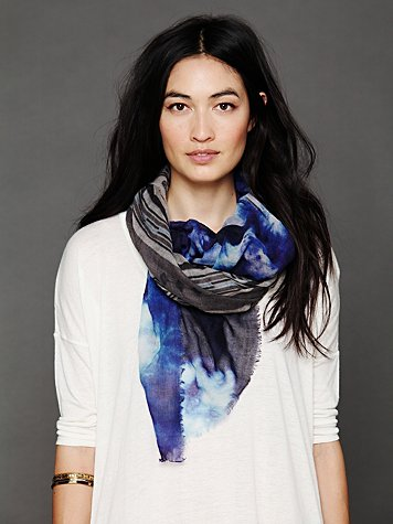 Geo Cloud Scarf