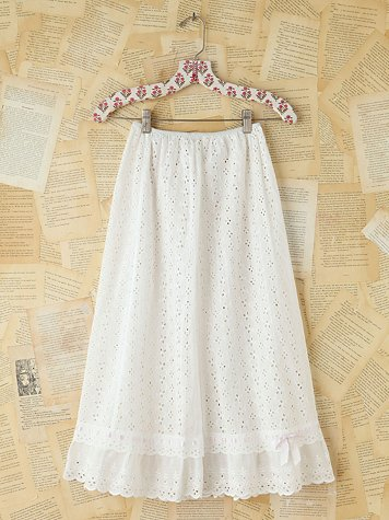 Vintage Cotton Eyelet Skirt