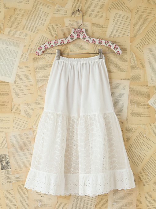 Free People Vintage Gauzy Eyelet Skirt in vintage-skirts