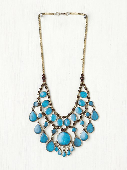 Natalie B.  Large Stone Layering Collar in beach-jewelry