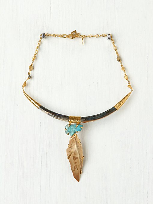 Caged Fossil Collar in accessories-jewelry-necklaces