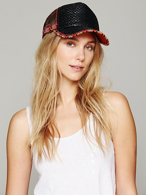 Mario Straw Trucker Hat in accessories-hats