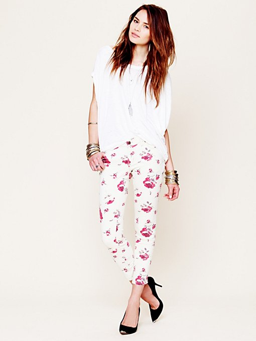Eunina Printed Ankle Skinny in Skinny-Pants