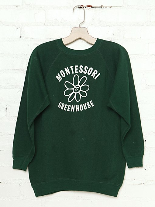 Free People Vintage Montessori Greenhouse Sweatshirt in Vintage-Tops