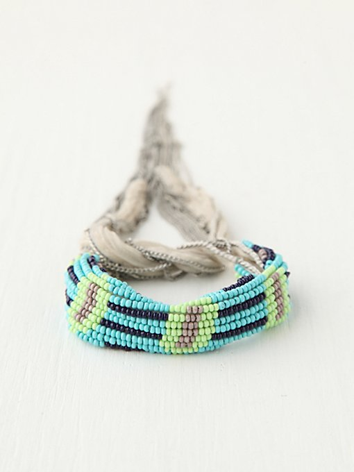 Chan Luu Summer Beaded Fringe Bracelet in beach-jewelry