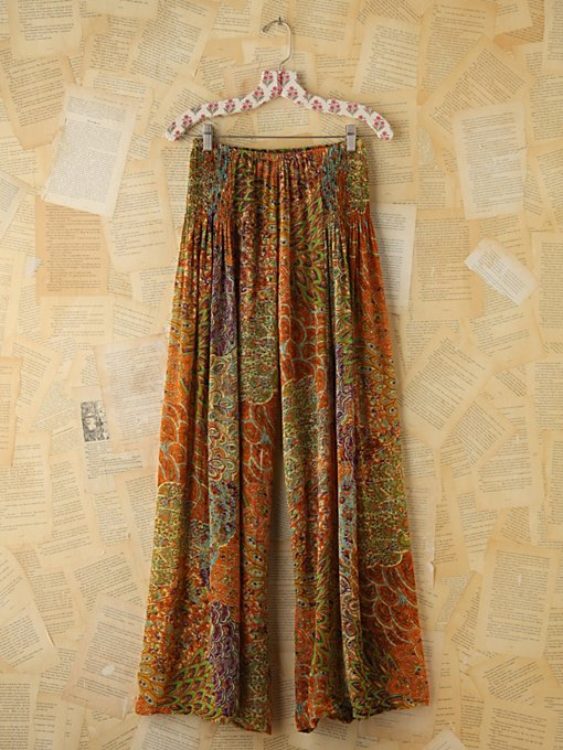 Free People Vintage Printed Wideleg Pants in vintage-skirts
