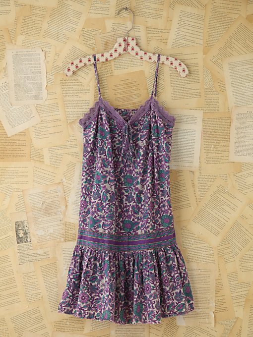 Vintage Floral Print Tank Dress in Vintage-Loves-dresses