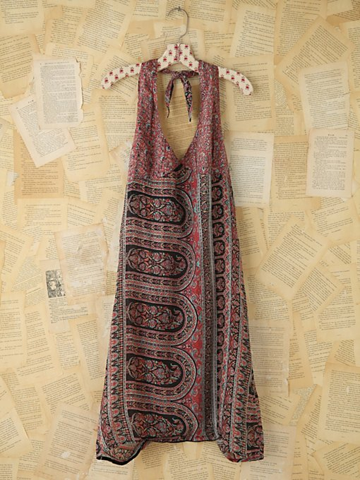 Free People Vintage Printed Halter Dress in Vintage-Dresses