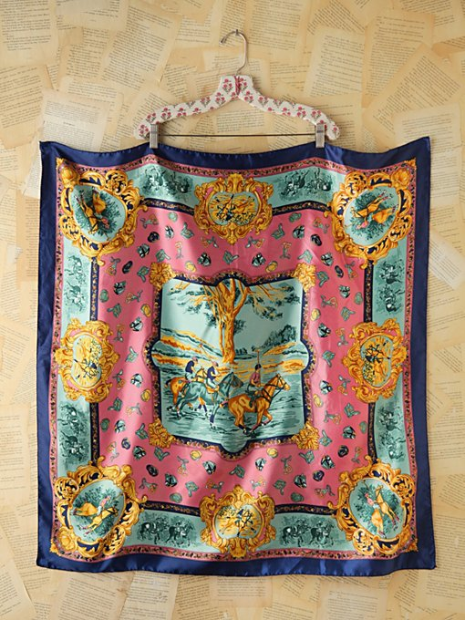 Free People Vintage Colorfuly Printed Scarf in Vintage-Jewelry