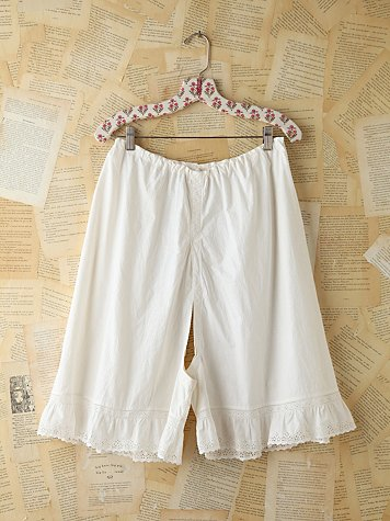 Free People Vintage Cotton Breeches With Lace