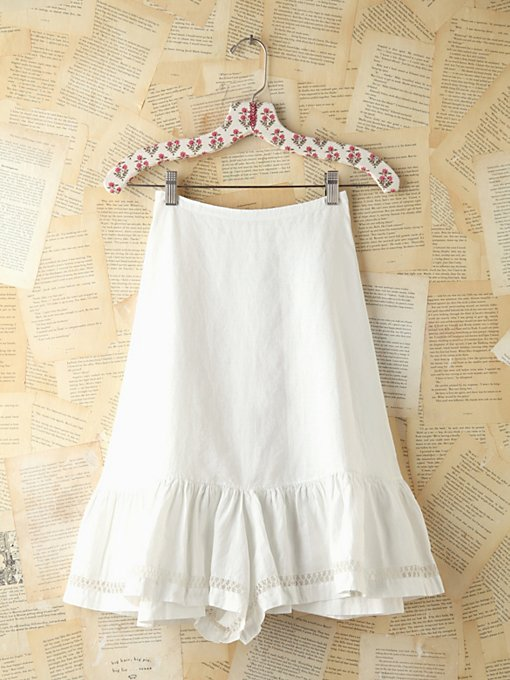 Free People Vintage Crochet Trimmed Skirt in vintage-skirts