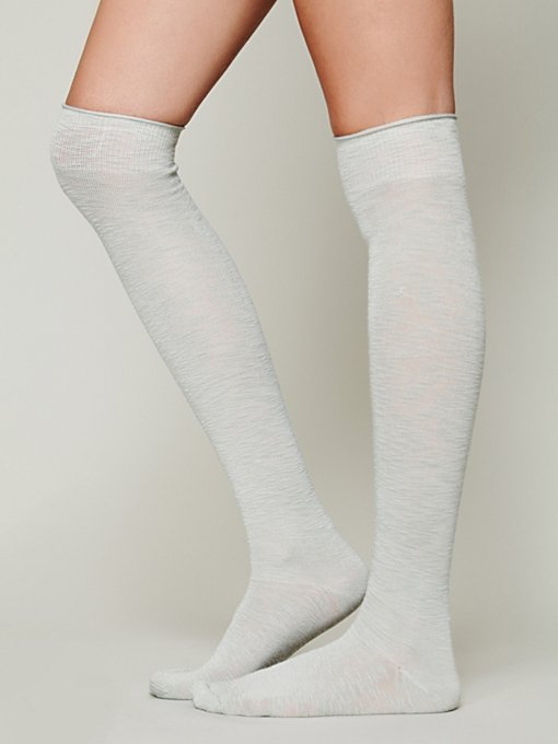 Twill Tall Sock in accessories-legwear-tall-socks