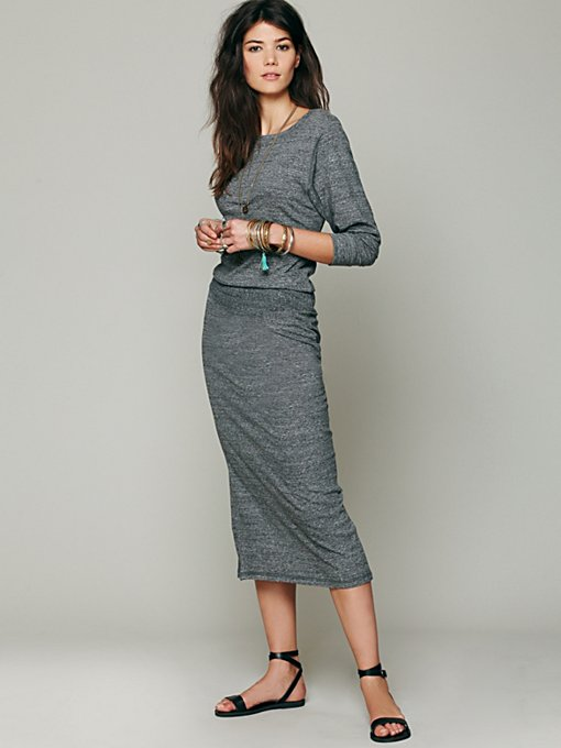 Recycled Jersey Lounge Dress in clothes-dresses-maxi