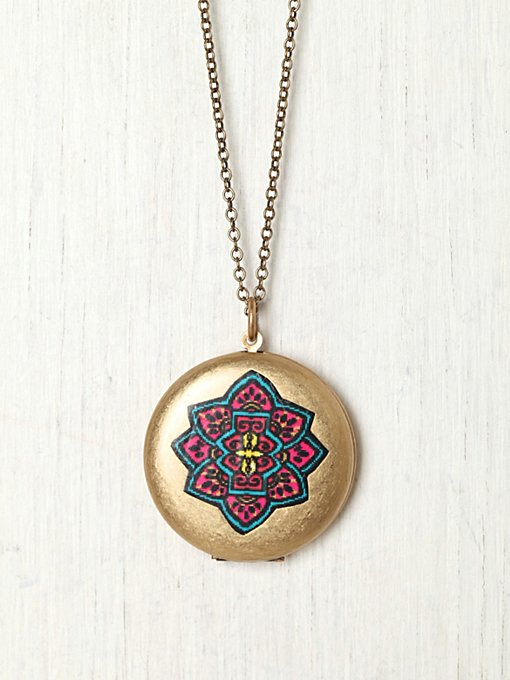 Painted Locket in bohemian-necklaces