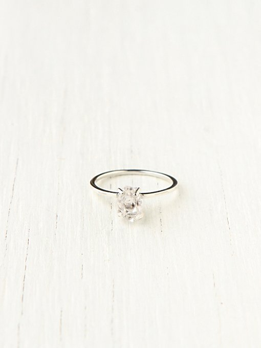 Erica Weiner  Herkimer Diamond Solitaire in jewelry