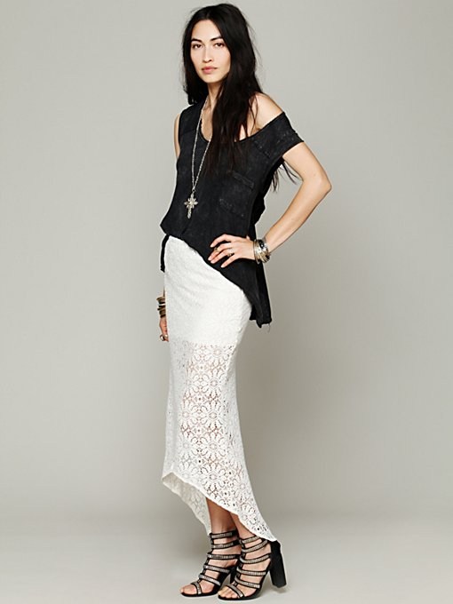Jen's Pirate Booty Wilde Crochet Pencil Skirt in white-maxi-dresses