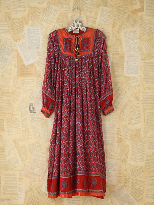Vintage Printed Indian Dress in Vintage-Loves-dresses