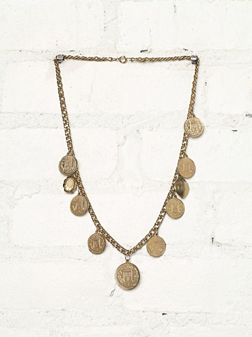 Free People Vintage Coin Necklace in Vintage-Jewelry