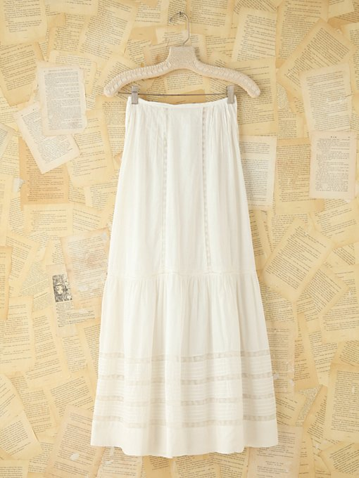 Free People Vintage Cotton Maxi Skirt in vintage-skirts
