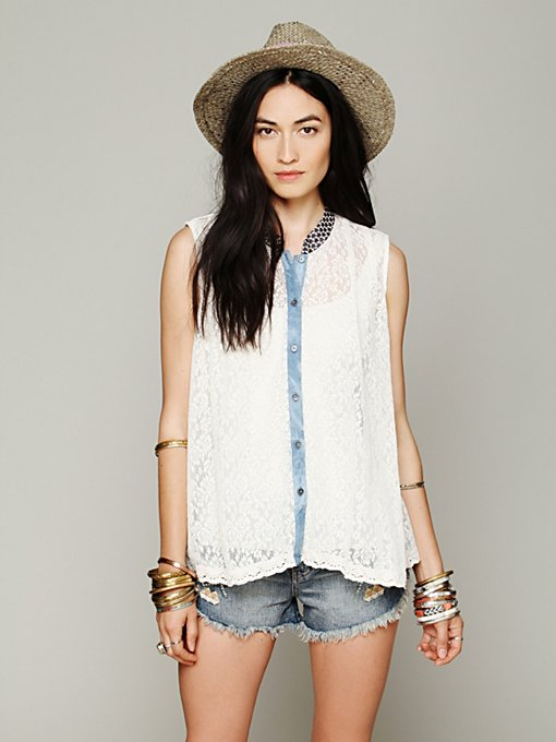 Swing Lace Tank in clothes-shirts