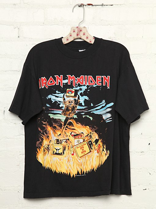 Vintage Iron Maiden Rock Tee in Vintage-Loves-vintage-tees