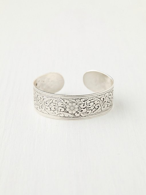 Etched Rye Cuff in jewelry