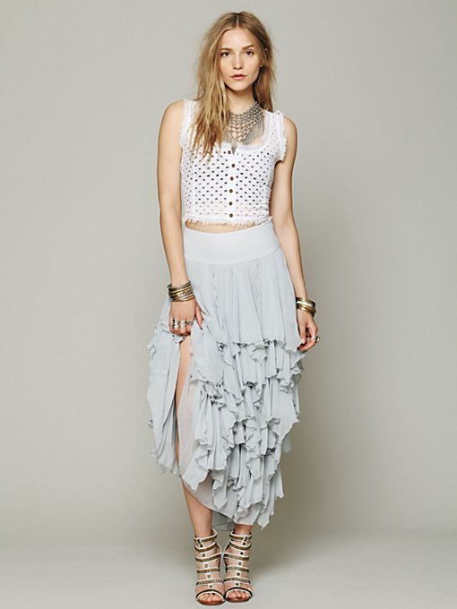 5 Layer Maxi Skirt in maxi-midi