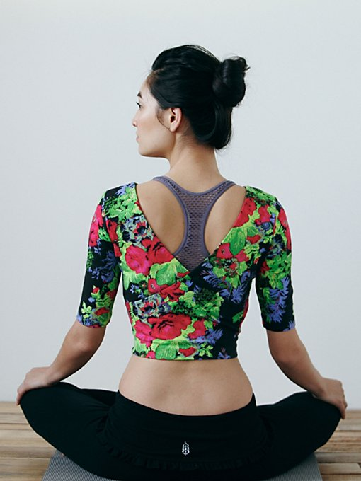 Intimately Printed Ballet Crop Top in Yoga-Clothes