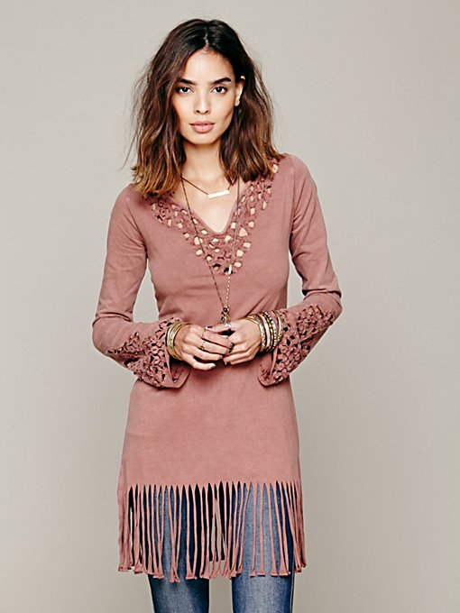 Free People Fancy Fringe Tunic