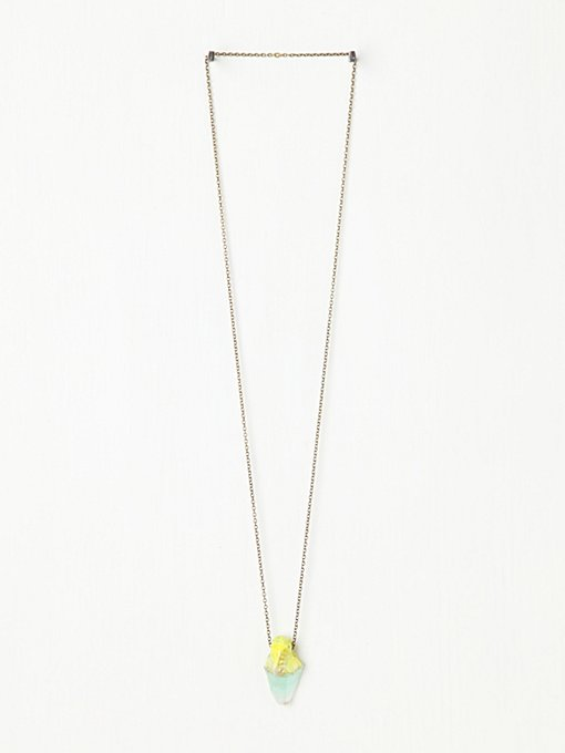 Adina Mills Neon Dipped Crystal in necklaces