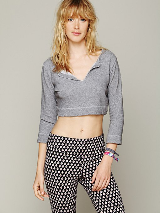 Solow Sport French Terry Cropped Pullover in crop-tops