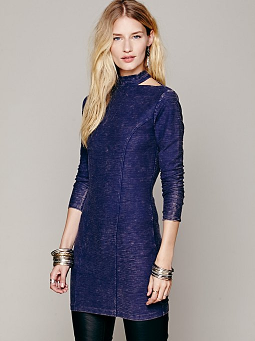 Free People High Neck Bodycon Tunic