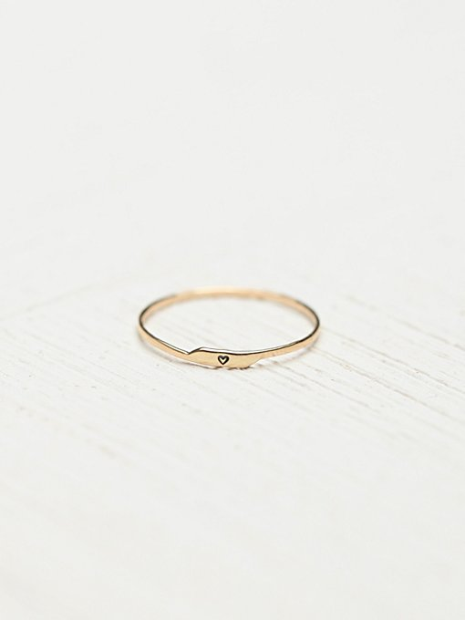 Etched Letter Ring in accessories-the-jewelry-box-rings