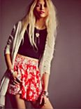 Mixed Print High Rise Skort