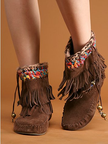 Fringe Moccasin Boot