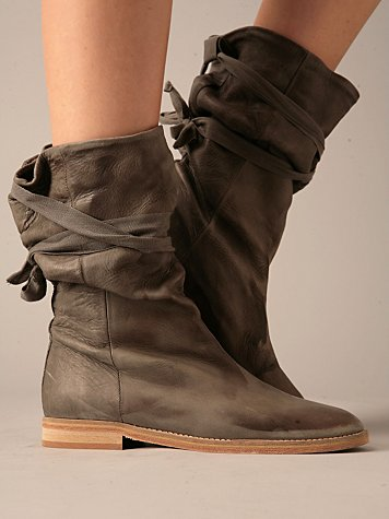 Stonewashed Leather Boot by Humanoid